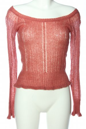 MNG Szydełkowany sweter różowy W stylu casual