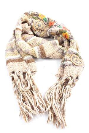 MNG Crochet Scarf striped pattern casual look