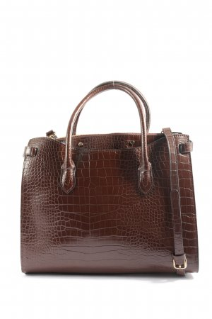 MNG Handtasche braun Animalmuster Business-Look