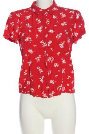 MNG Blouse-chemisier rouge-blanc imprimé allover style décontracté