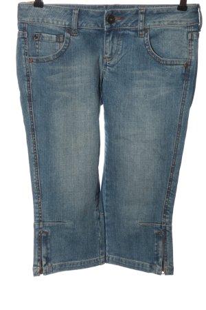 MNG Jeans Vaquero 3/4 azul look casual