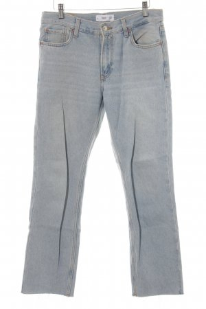 MNG Jeans 7/8 Jeans blassblau Washed-Optik