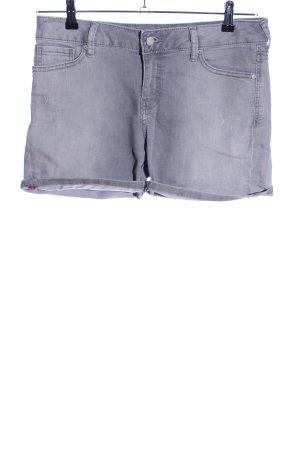 MNG Jeans Hot Pants hellgrau Casual-Look
