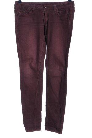 MNG Jeans Pantalone a vita bassa lilla stile casual