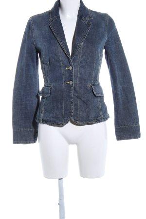 MNG Jeans Jeansjacke blau Business-Look