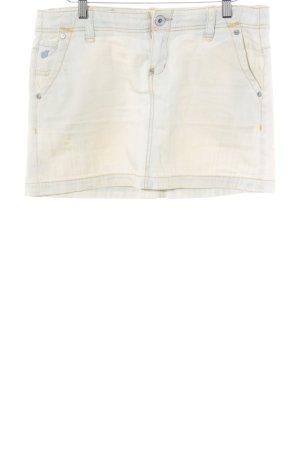 MNG Jeans Jeansrock hellbeige Casual-Look