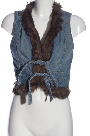 MNG Jeans Jeansowa kamizelka niebieski W stylu casual