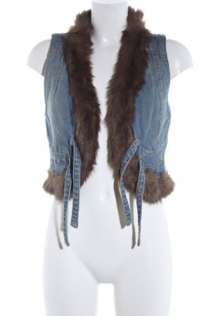 MNG Jeans Jeansweste blau Casual-Look