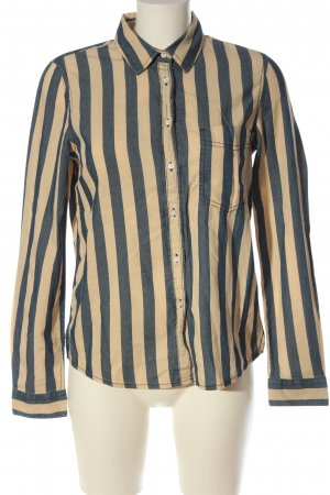 Mango Langarmhemd blau-creme Allover-Druck Casual-Look