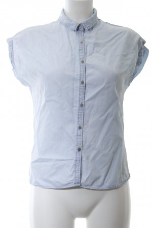 MNG Jeansbluse blau Business-Look