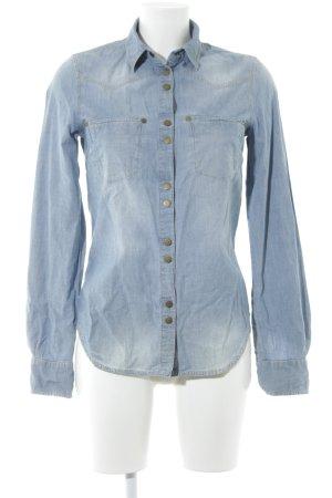 MNG Jeanshemd himmelblau Jeans-Optik