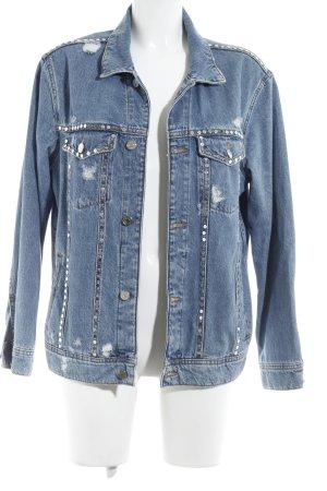 MNG Jeansjacke himmelblau Jeans-Optik