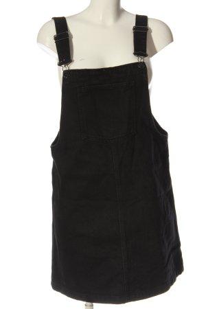 MNG Jeanskleid schwarz Streifenmuster Casual-Look