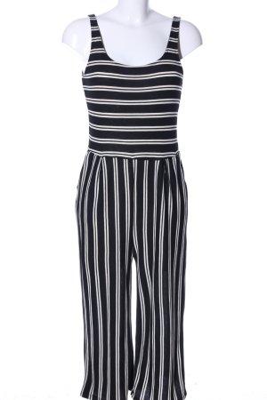 MNG Jumpsuit schwarz-weiß Allover-Druck Casual-Look