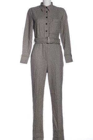 MNG Jumpsuit schwarz-weiß Allover-Druck Business-Look
