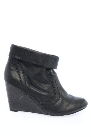 MNG Keil-Stiefeletten schwarz Casual-Look