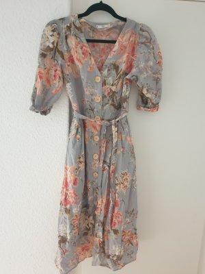 Mango Midi Dress grey-dusky pink