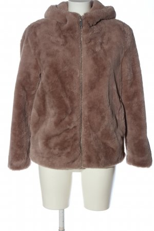 MNG Fake Fur Jacket brown casual look