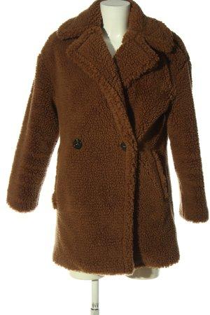 MNG Manteau en fausse fourrure brun style décontracté