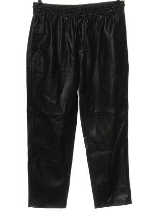 MNG Kunstlederhose schwarz Casual-Look