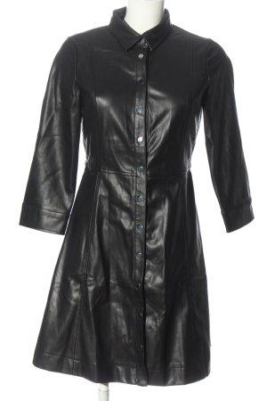 MNG Kunstlederkleid schwarz Elegant