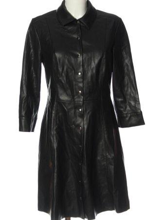 MNG Kunstledermantel schwarz Elegant