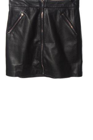 MNG Kunstlederrock schwarz Elegant
