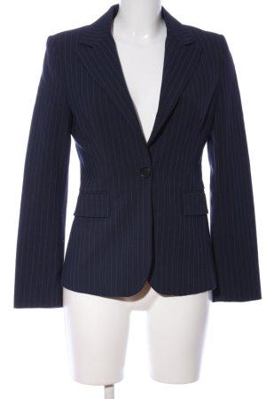MNG Kurz-Blazer blau Streifenmuster Business-Look