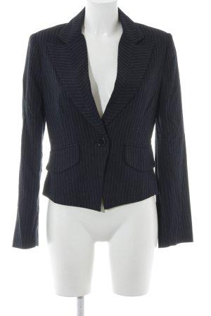 MNG Kurz-Blazer dunkelblau-weiß Business-Look