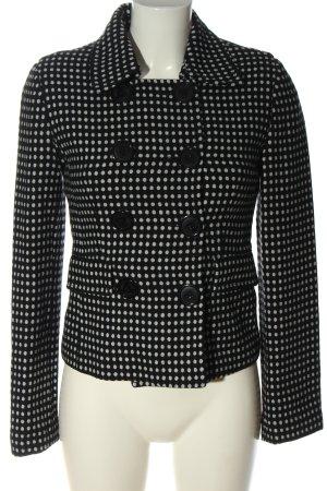 MNG Kurz-Blazer schwarz-weiß Punktemuster Business-Look