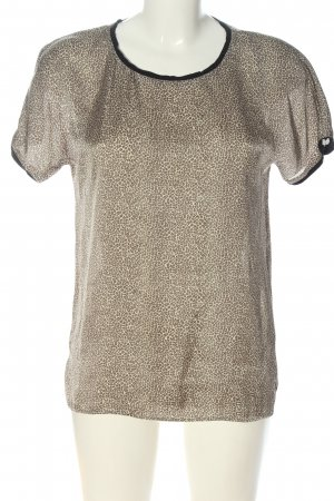 MNG Kurzarm-Bluse Allover-Druck Casual-Look
