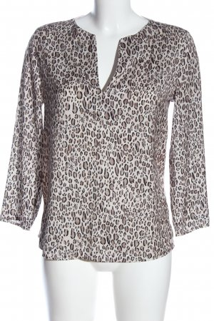 MNG Kurzarm-Bluse Animalmuster Casual-Look