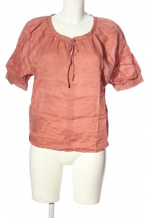 MNG Kurzarm-Bluse rot Casual-Look