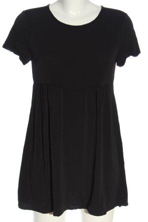 MNG Kurzarm-Bluse schwarz Casual-Look