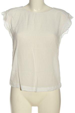 MNG Kurzarm-Bluse wollweiß Elegant