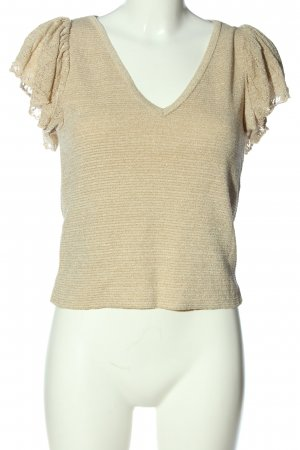 MNG Kurzarm-Bluse creme Casual-Look