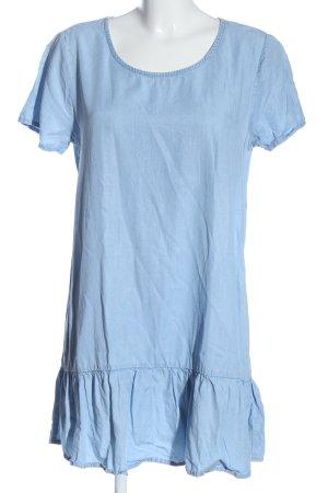 MNG Kurzarmkleid blau Casual-Look
