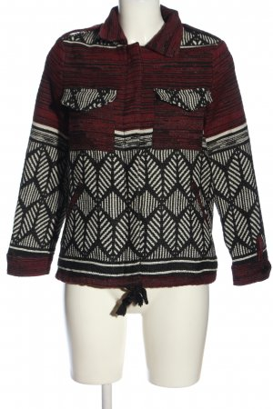 MNG Kurzjacke grafisches Muster Casual-Look