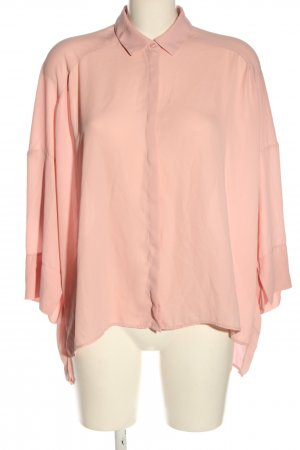 MNG Langarm-Bluse pink Business-Look