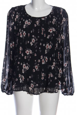 MNG Langarm-Bluse Allover-Druck Casual-Look