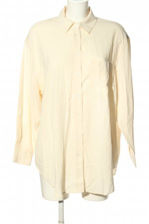 MNG Langarm-Bluse creme Allover-Druck Casual-Look