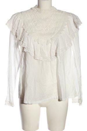 MNG Langarm-Bluse weiß Elegant