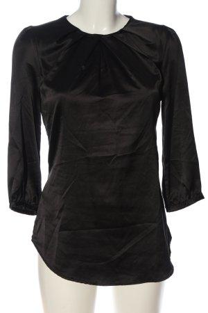 MNG Langarm-Bluse schwarz Casual-Look