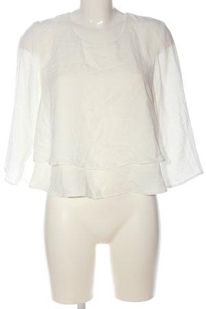 MNG Langarm-Bluse weiß Casual-Look