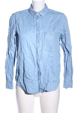 MNG Langarm-Bluse blau Casual-Look