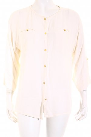 MNG Langarm-Bluse creme Casual-Look