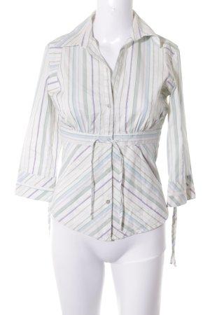 MNG Langarm-Bluse Streifenmuster schlichter Stil
