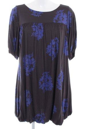 MNG Langarmkleid schwarz-blau Casual-Look