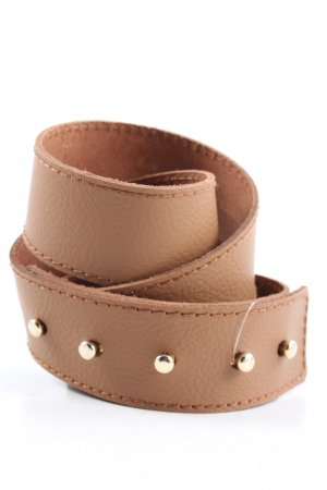 MNG Leather Belt brown casual look