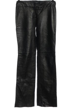 MNG Skórzane spodnie czarny W stylu casual